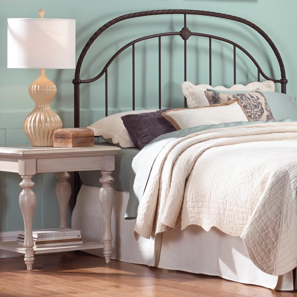 fashion bed group dynasty queen size headboard with arched metal grill and scalloped finial. Black Bedroom Furniture Sets. Home Design Ideas