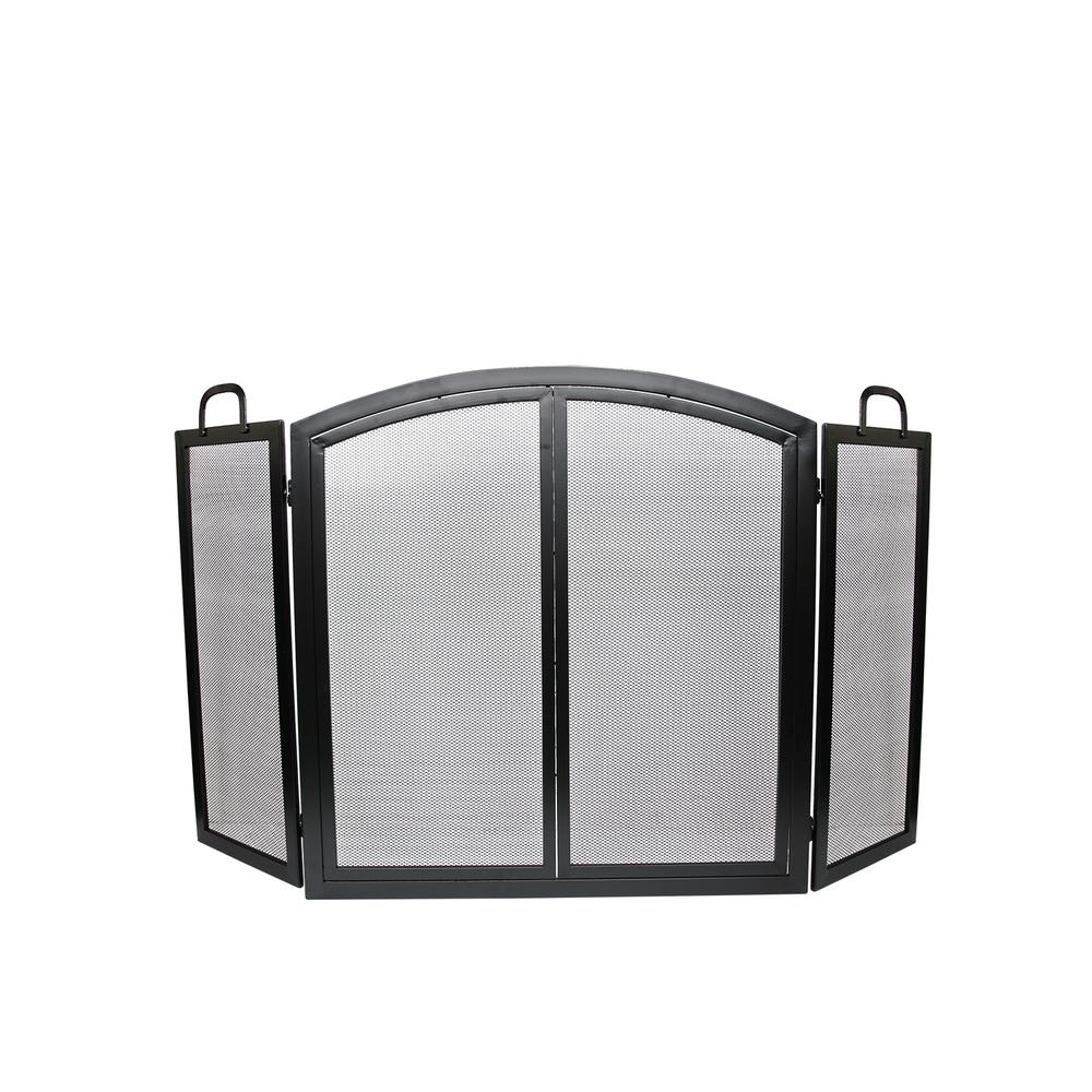 Radclife Manor 3-Panel 55 in. Fireplace Screen