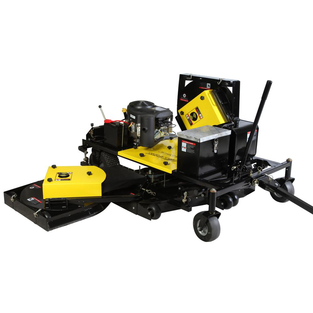 Beast 25 HP 100 in  Tow-Behind Mower, Convertible into 52 in  Finish Cut or  Brush Mower Briggs and Stratton Pro Series Engine