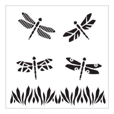 Dragonflies Small Painting Stencils