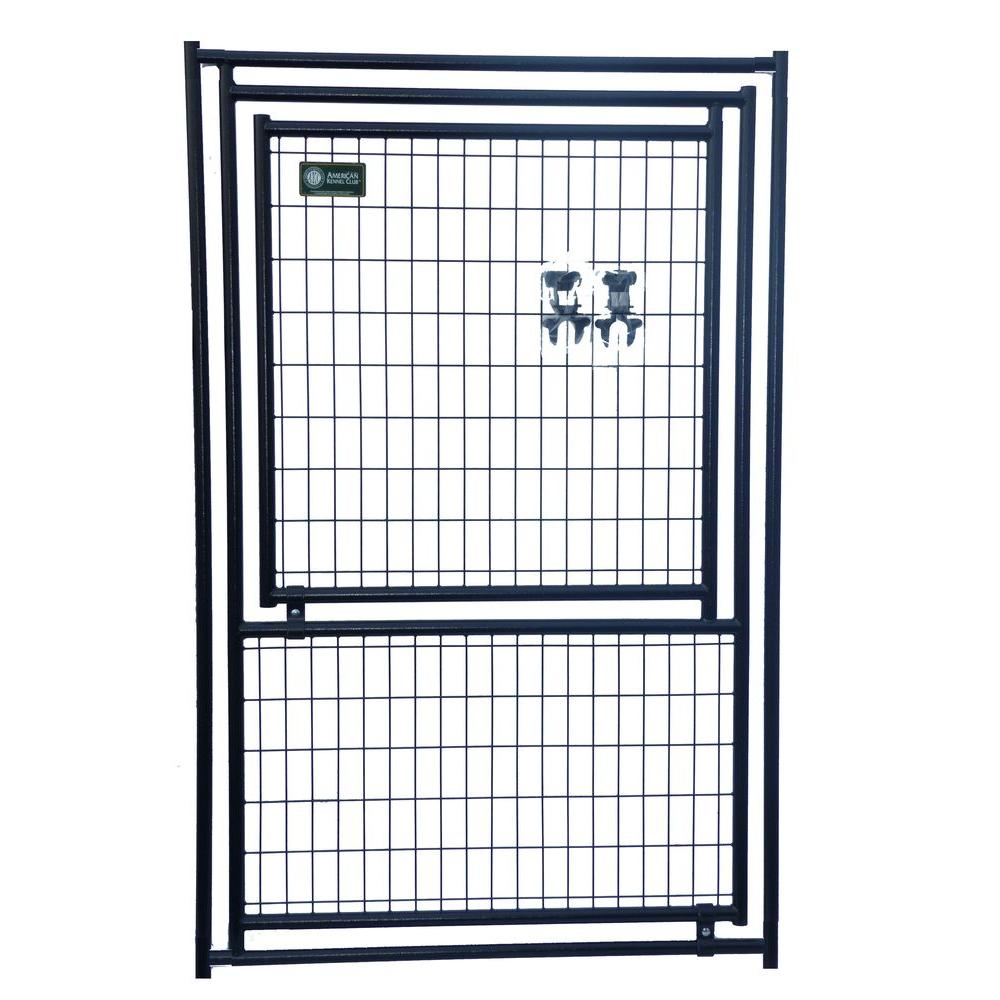 American Kennel Club 6 ft. x 4 ft. Modular Kennel Gate Panel with A Gate Panel