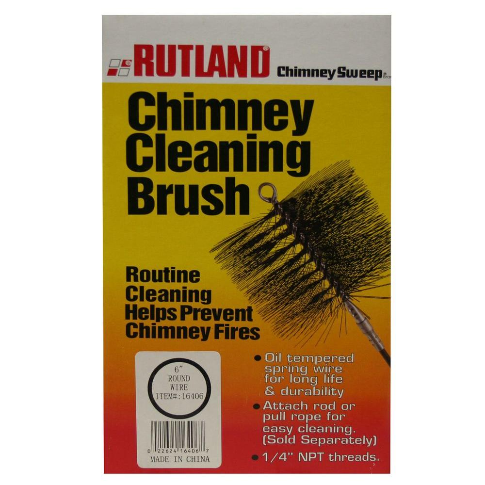Rutland 1 Piece Chimney Sweep 6 In Round Chimney Cleaning