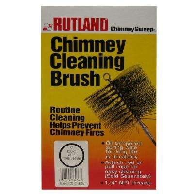 1-Piece Chimney Sweep 6 in. Round Chimney Cleaning Brush
