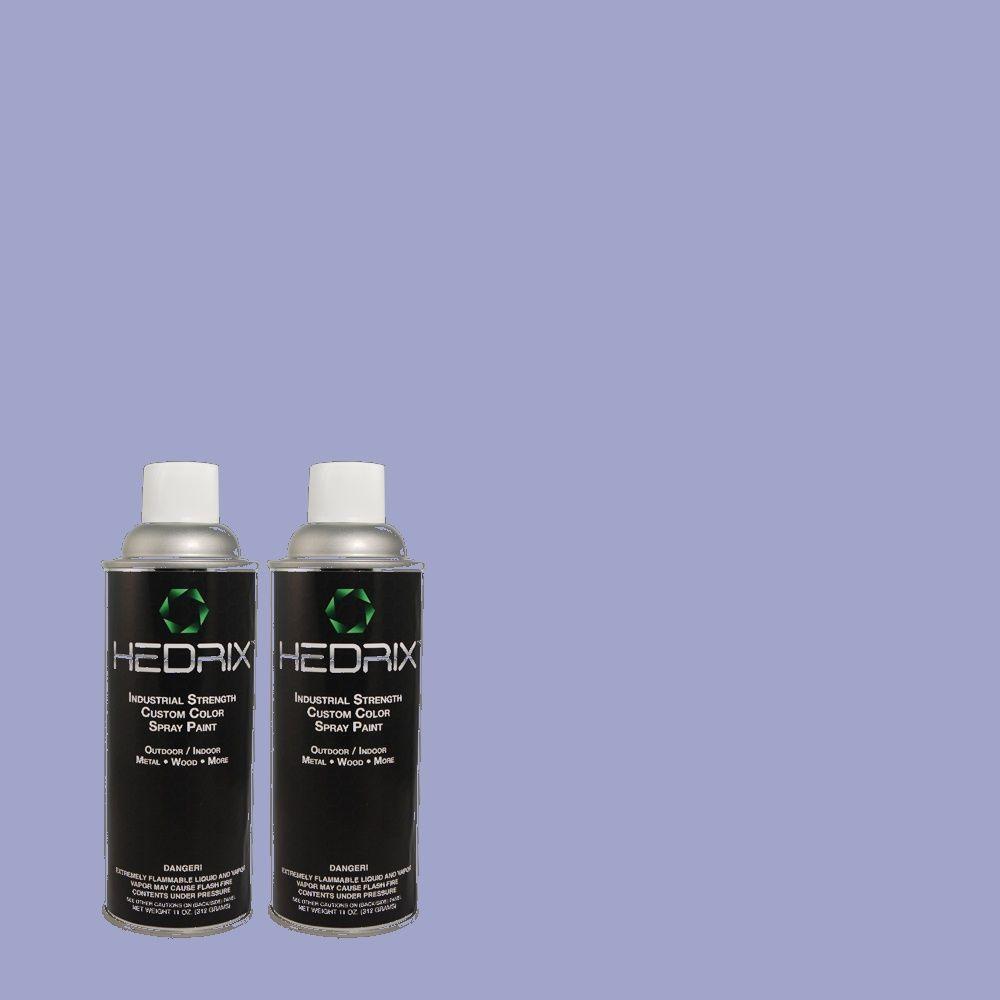 Hedrix 11 oz. Match of 600B-4 Pageant Song Semi-Gloss Custom Spray Paint (2-Pack)