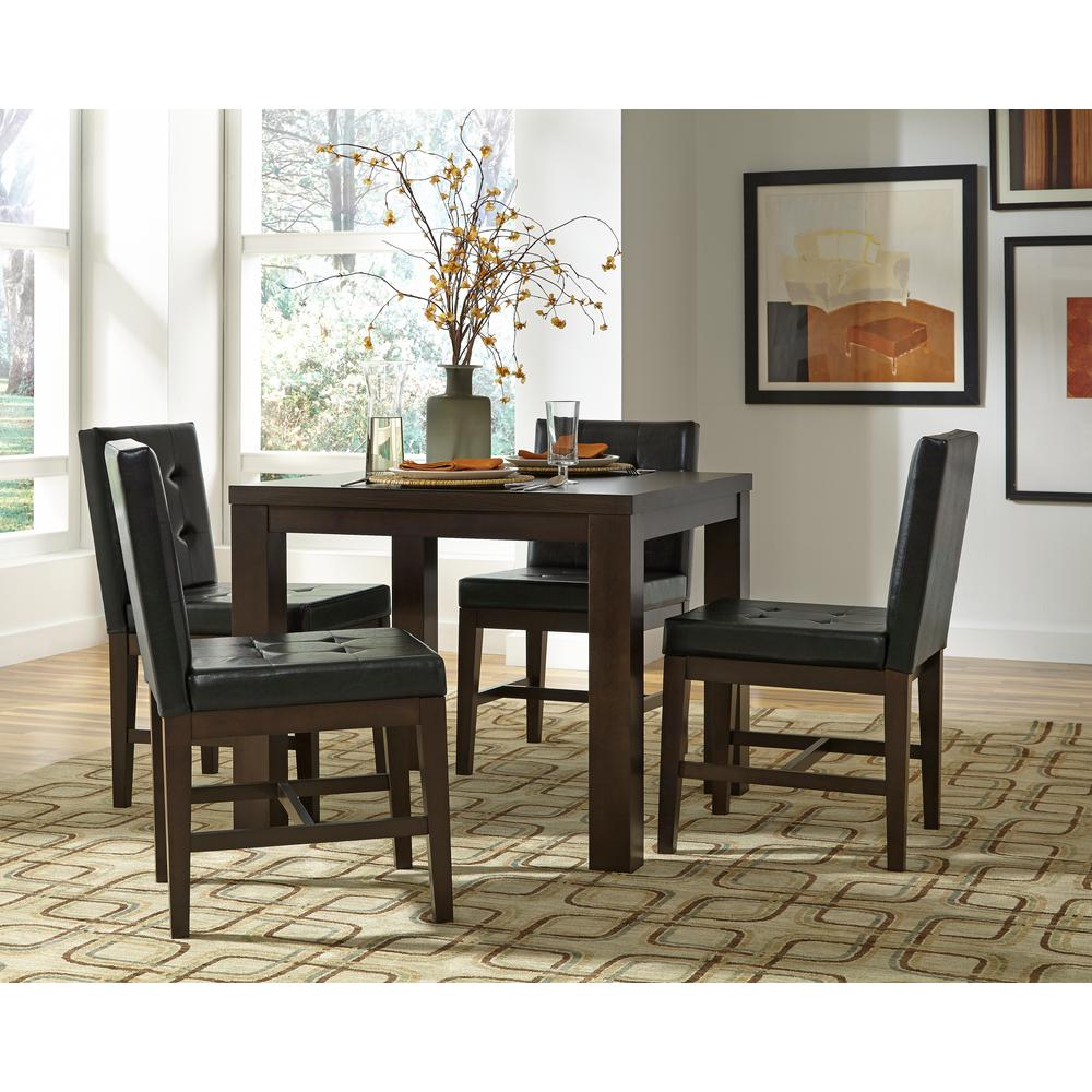Progressive Furniture Athena Dark Chocolate Square Dining Table P109d 12 The Home Depot