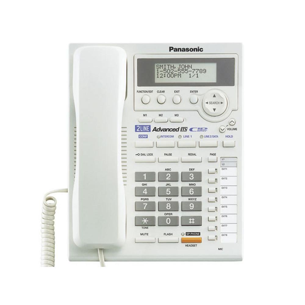 Panasonic 2-Line Corded Speakerphone with Intercom - White