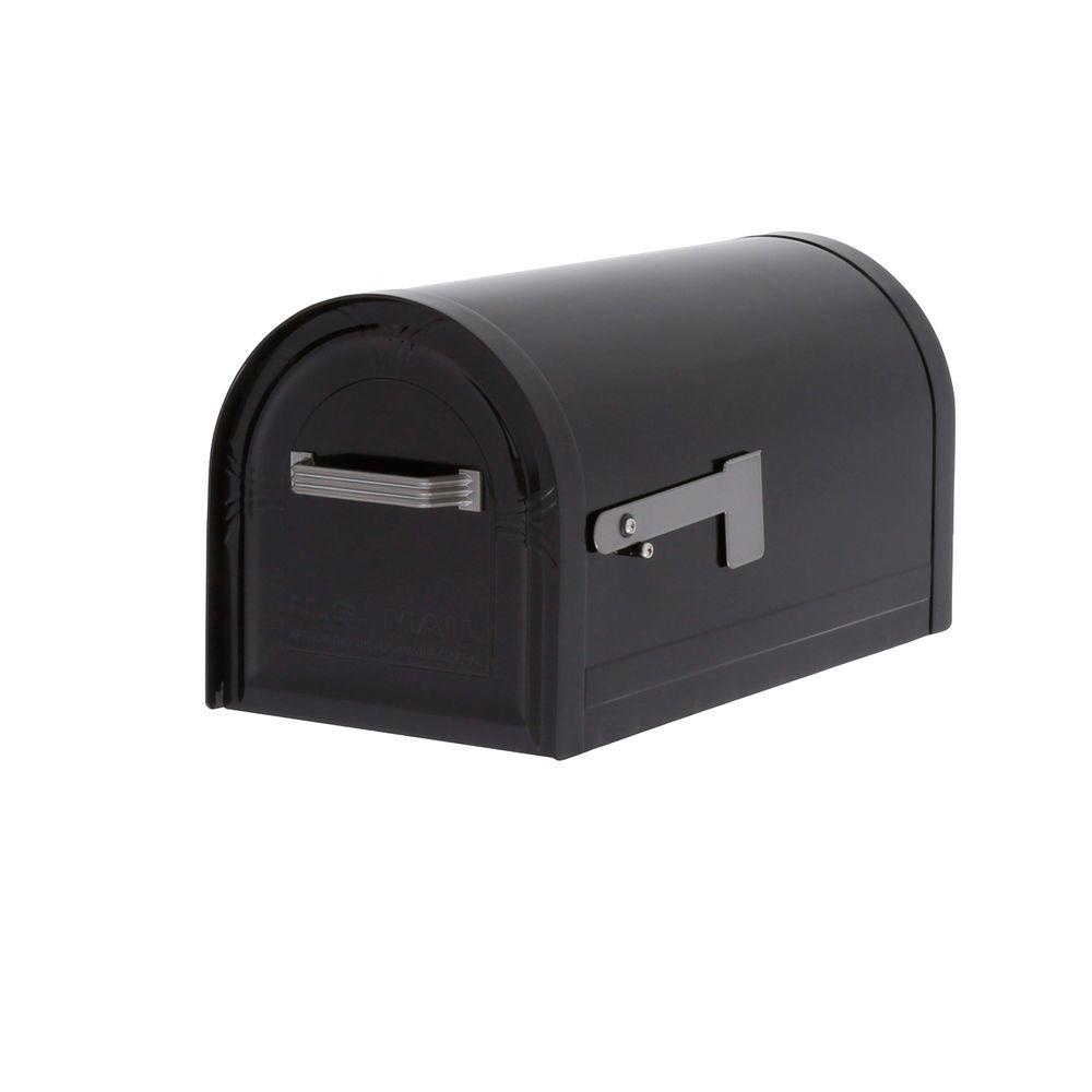 Gibraltar Mailboxes Wyngate Locking Post-Mount Mailbox in Black  sc 1 st  Home Depot & Gibraltar Mailboxes Wyngate Locking Post-Mount Mailbox in Black ...