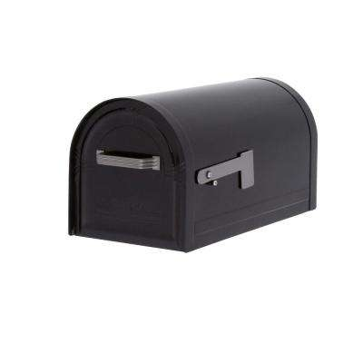 Wyngate Locking Post-Mount Mailbox in Black