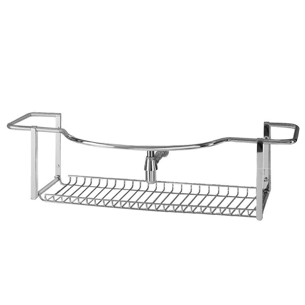 Porcher Riviera Towel/Accessory Rack in Polished Chrome-DISCONTINUED