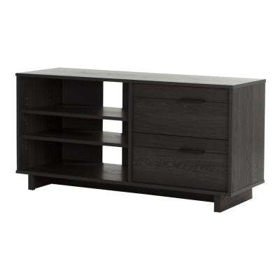 Fynn Gray Oak Storage Entertainment Center