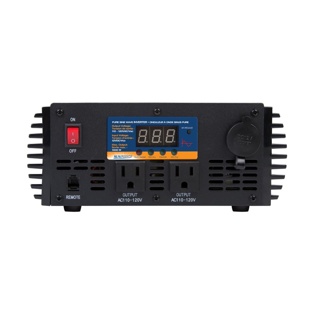 Sunforce 1000 Watt Pure Sine Wave Inverter 11240 The Home Depot Electronics Schematics Audio Tone Generator Store So Sku 228757