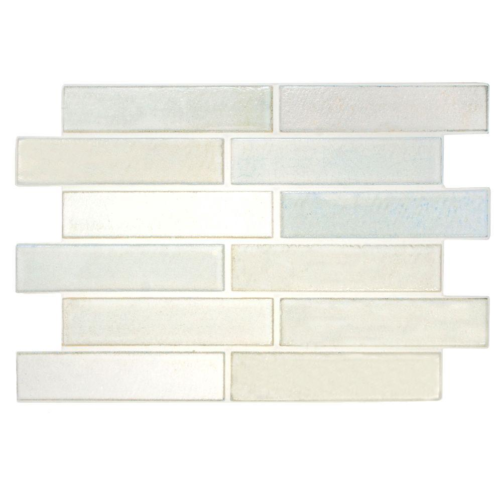 Merola Tile Magna Antique Snow 8 in. x 12 in. Ceramic Wall Tile