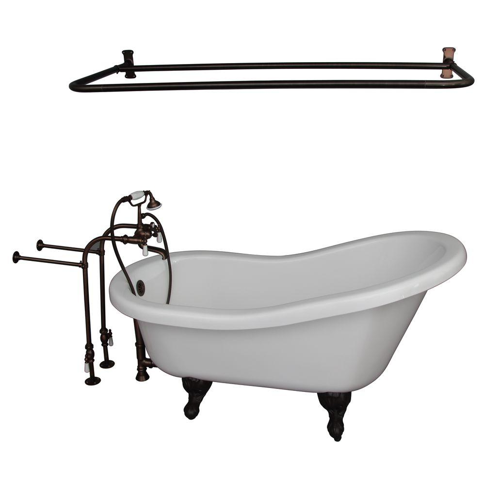 Barclay Products 5.6 ft. Acrylic Ball and Claw Feet Slipper Tub in ...