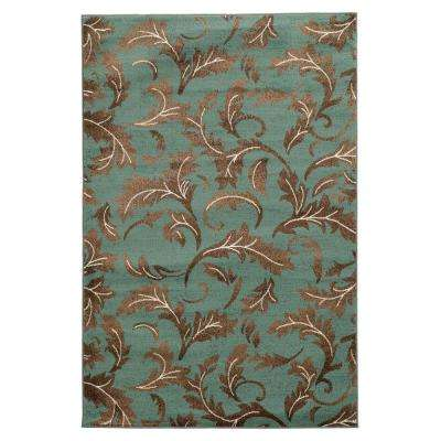 Elegance Forest Blue 8 ft. x 10 ft. Area Rug