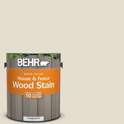 1 gal. #GR-W12 Confident White Solid Color House and Fence Exterior Wood Stain