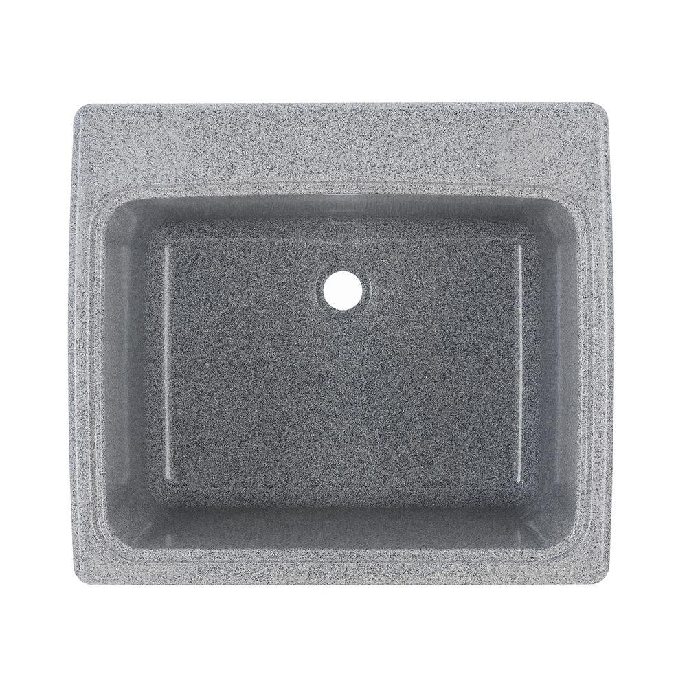 Charmant Swan 25 In. X 22 In. X 13.6 In. Solid Surface Undermount Utility