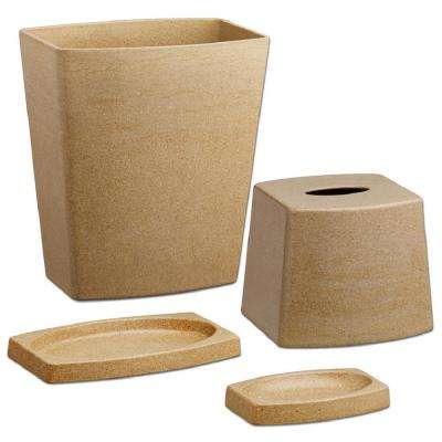 My Earth 4 Piece Bath Accessory Set In Granite