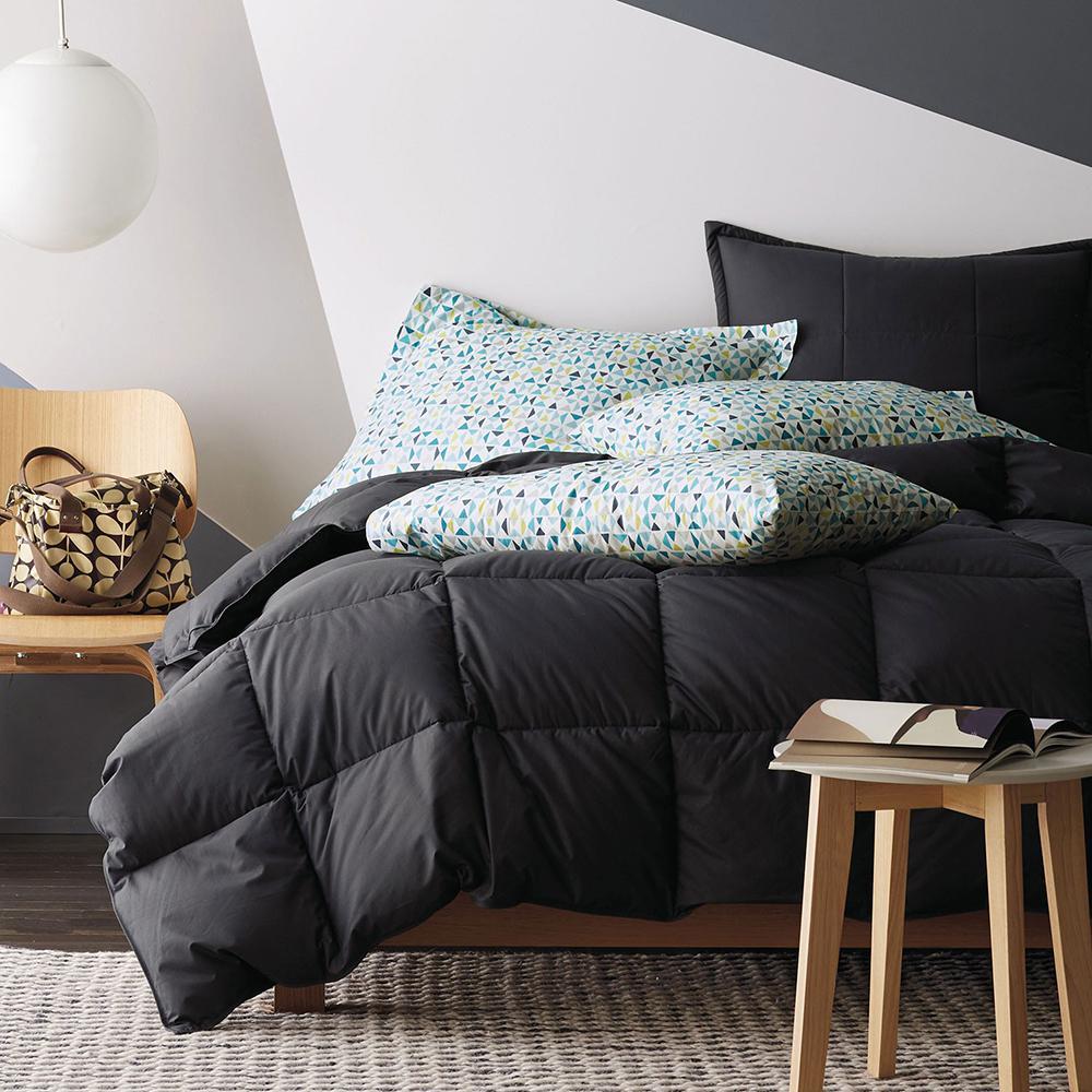 LaCrosse LoftAIRE Medium Warmth Charcoal Gray Twin Down Alternative Comforter