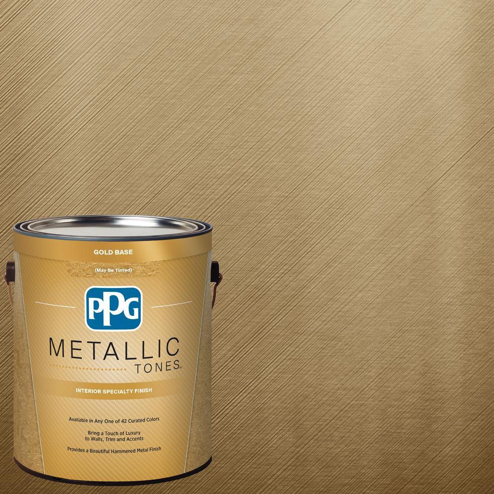 1 gal. MTL136 Bronzed Ochre Metallic Interior Specialty Finish Paint