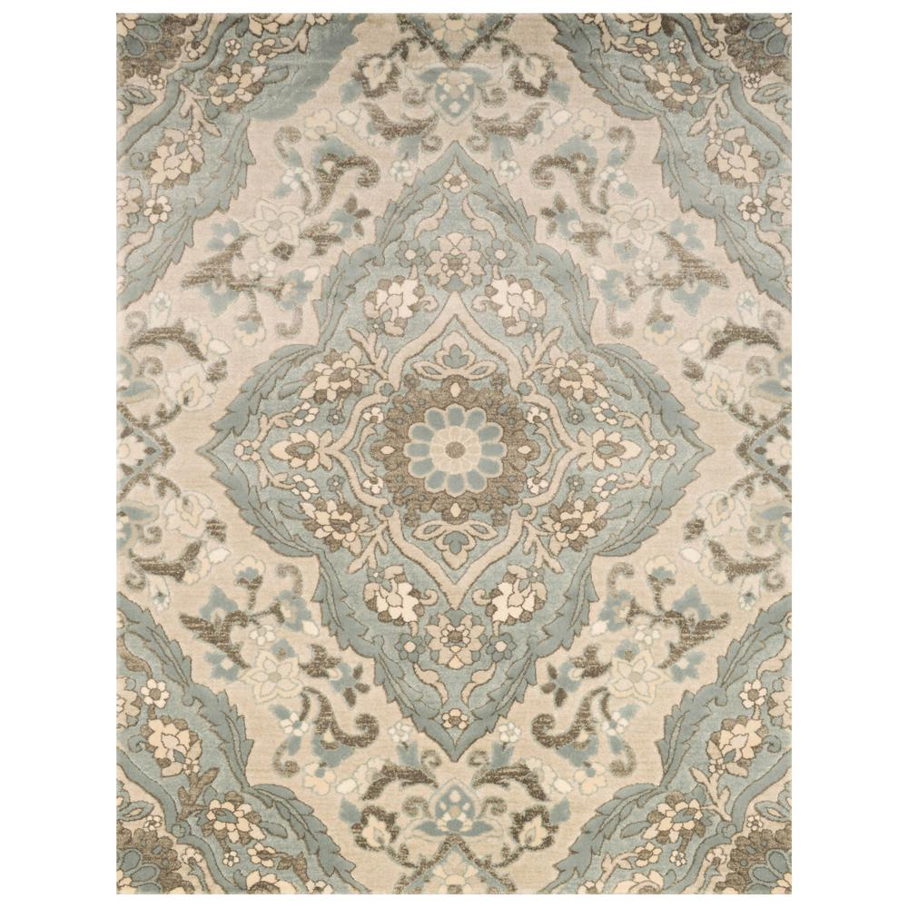 Home Decorators Collection Sherrington Blue 7 ft. 10 in. x 10 ft. Area Rug