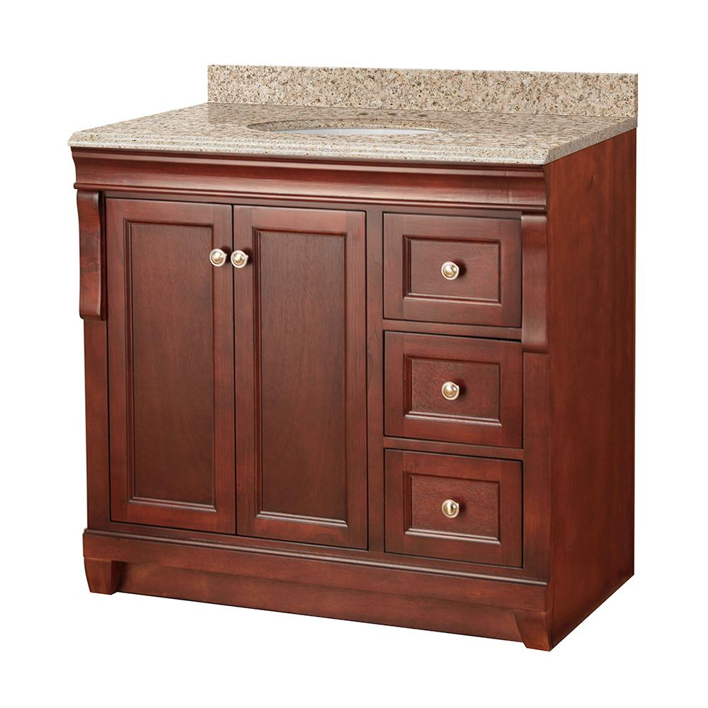 Foremost naples 37 in w x 22 in d bath vanity in warm for Foremost homes