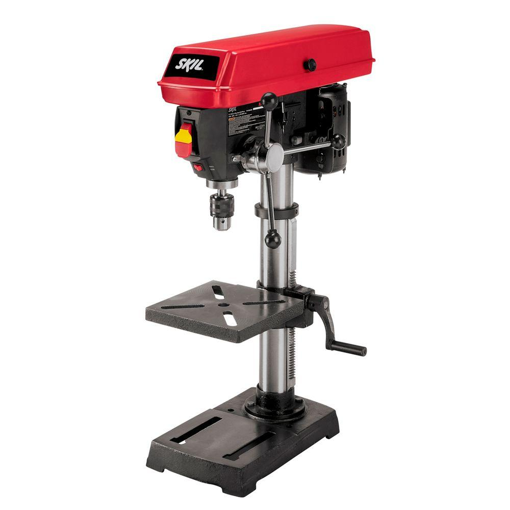 Skil 10 In Portable Drill Press With Built In Laser 3320 01 The Home Depot