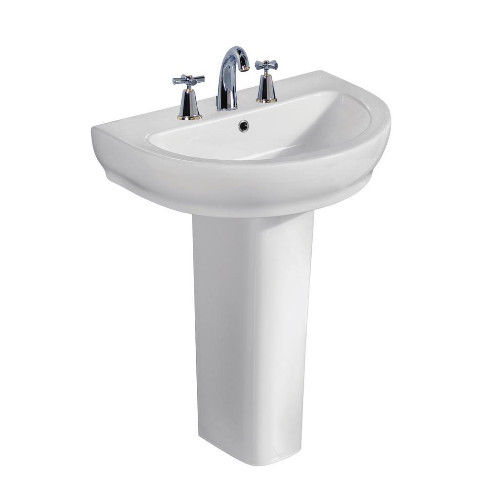 Harmony 800 31-1/2 in. Pedestal Combo in White