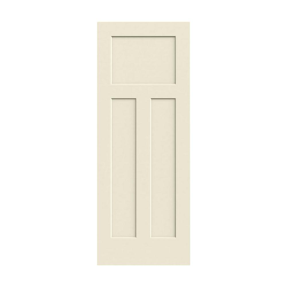 JELD-WEN 28 in. x 80 in. Craftsman Primed Smooth Solid Core Molded Composite MDF Interior Door Slab