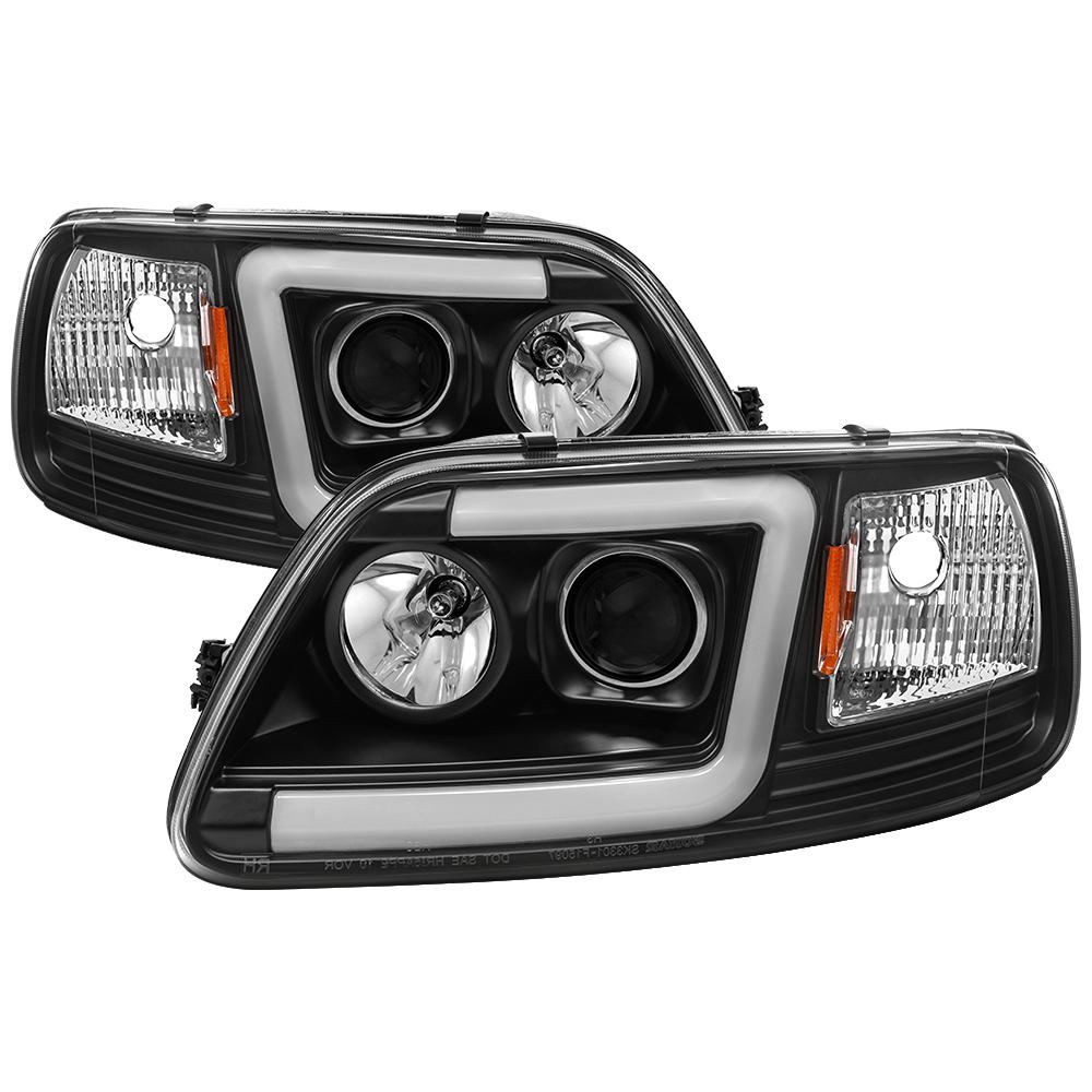 Spyder Auto Ford F150 97-03 / Expedition 97-02 1PC Light Bar Projector  Headlights - Black