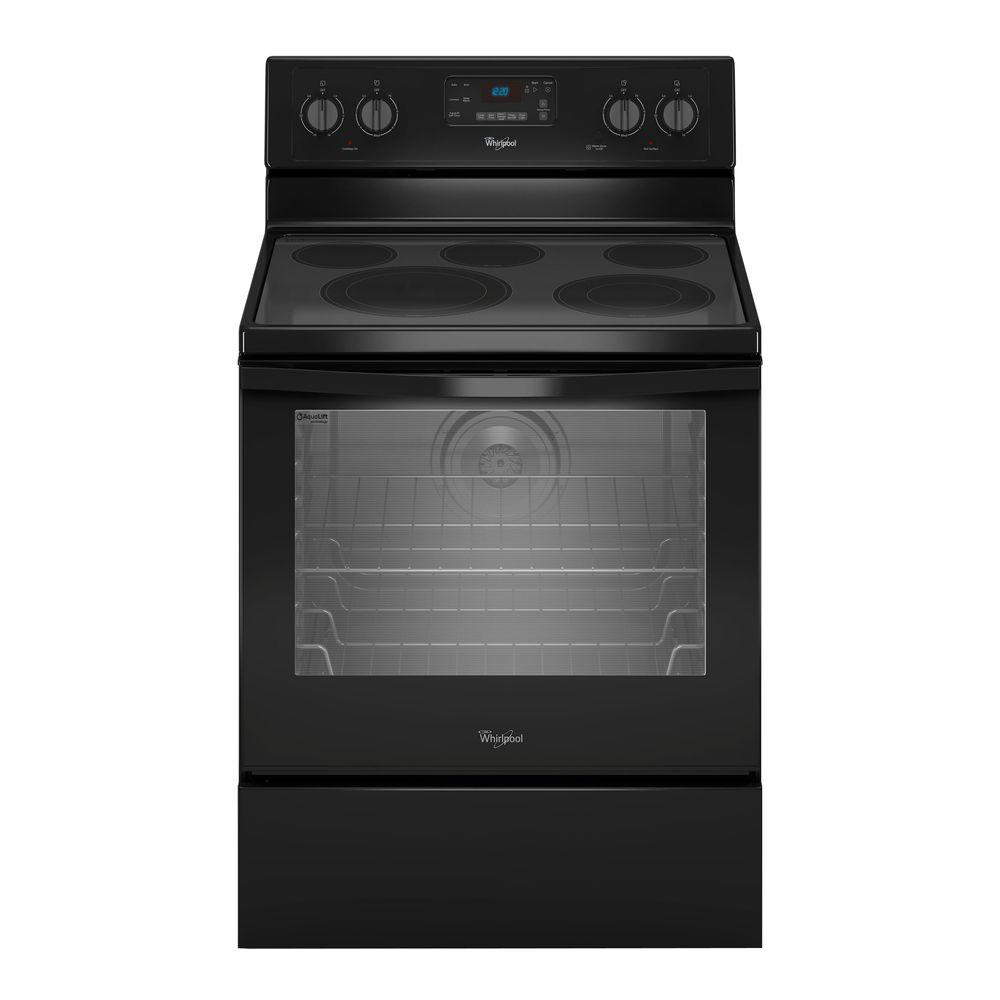 Whirlpool 6.4 cu. ft. Electric Range with Self-Cleaning Convection Oven in Black