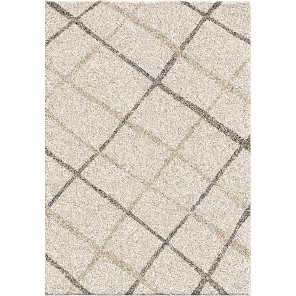 Orian Rugs Patterson Charcoal: Orian Rugs Diamond Thatch Ivory 5 Ft. 3 In. X 7 Ft. 6 In