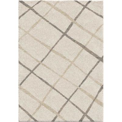 Diamond Thatch Ivory 7 ft. 10 in. x 10 ft. 10 in. Area Rug
