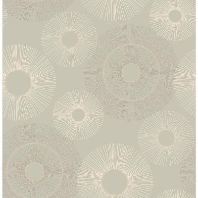 Eternity Taupe Geometric Wallpaper