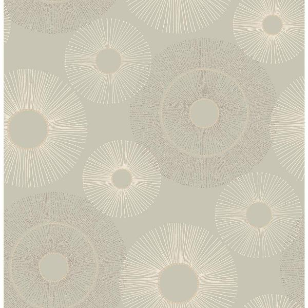 Kenneth James Eternity Taupe Geometric Wallpaper 2671-22448