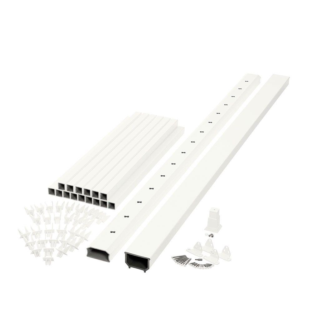 Horizon 6 ft. x 3 ft. White Capped Composite Rail Kit