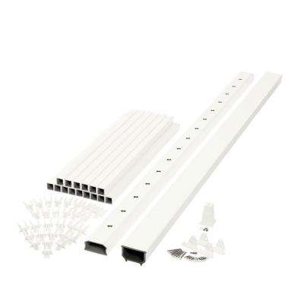 Horizon 6 ft. x 3 ft. White Capped Composite Rail Kit
