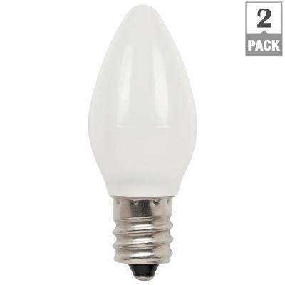 0.6W Equivalent Frosted C7 LED Light Bulb (2-Pack)