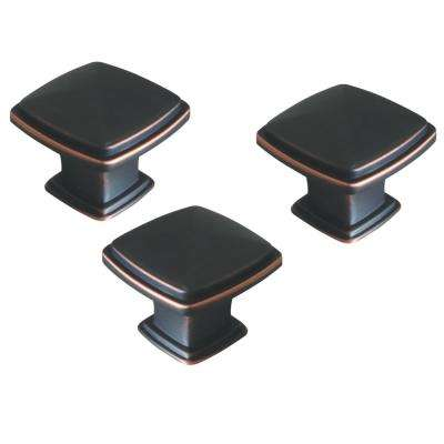 Park Avenue 1-1/4 in. Oil Rubbed Bronze Cabinet Drawer/Door Knob Value Pack (40-Pack)