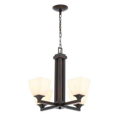 Mattock 4-Light Oil Rubbed Bronze Chandelier