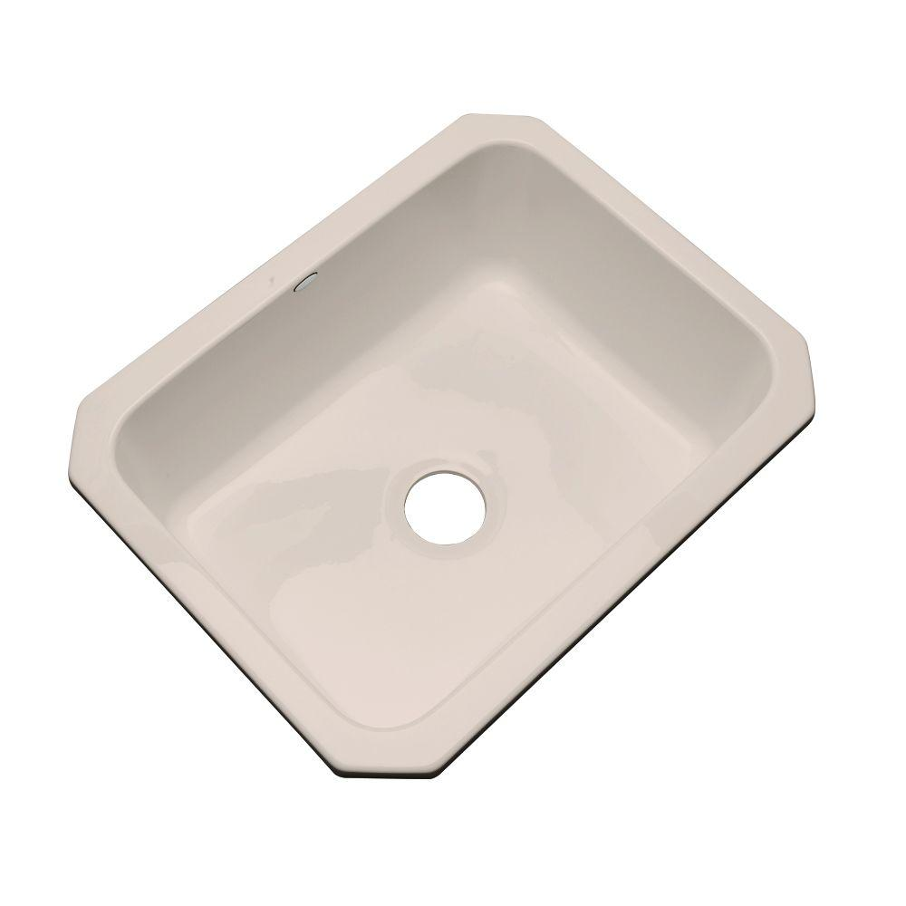 Inverness Undermount Acrylic 25 in. Single Bowl Kitchen Sink in Shell