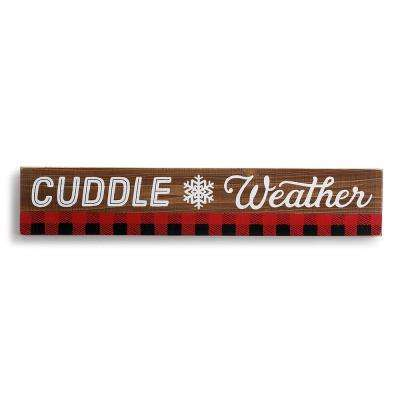 Wood Cuddle Weather Wall Art
