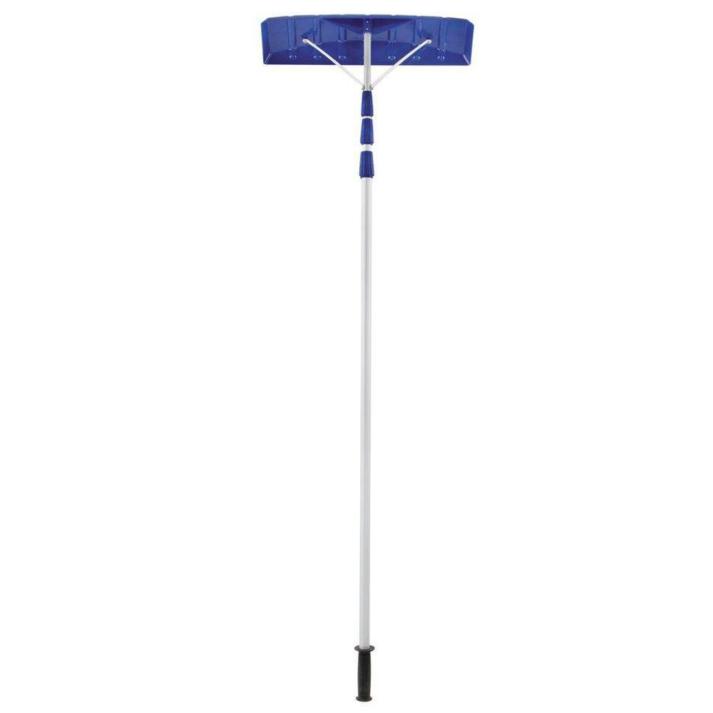 Snow Joe Roofer Joe 21 ft. Twist-N-Lock Telescoping Shovel Roof Rake