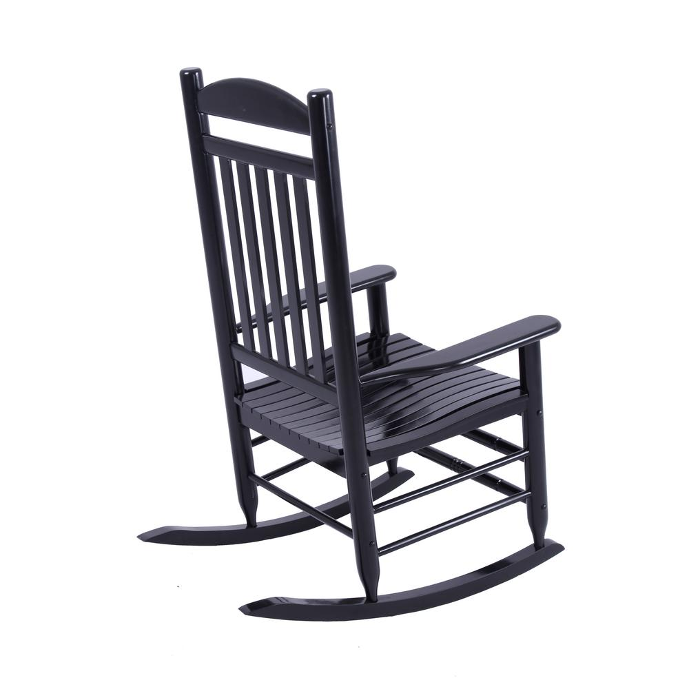 Peachy Hampton Bay Black Wood Outdoor Rocking Chair Ocoug Best Dining Table And Chair Ideas Images Ocougorg