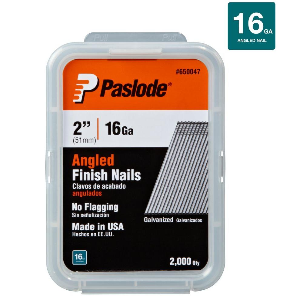 Nail 2000: Paslode 2 In. X 16-Gauge Galvanized Angled Finish Nails