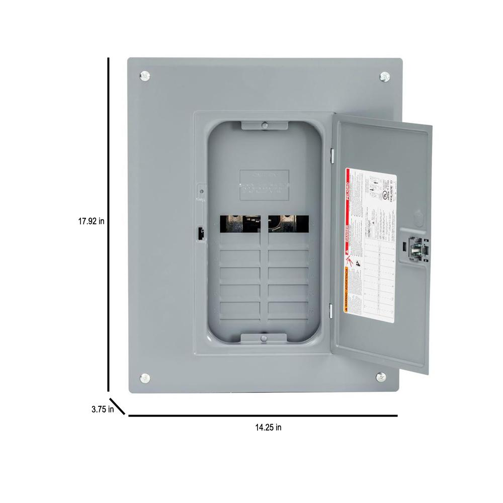 Outdoor Main Neutral Breaker Load Center 125 Amp Electrical Box 12 Space Plug