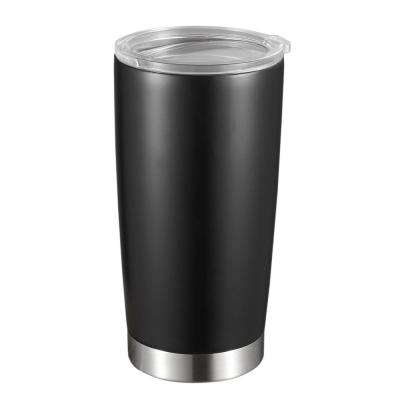 Geneva 20 oz. Black Matte Stainless Steel Double Wall Tumbler