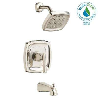 Edgemere 1.8 GPM 1-Handle Tub and Shower Faucet Trim Kit in Brushed Nickel (Valve Not Included)