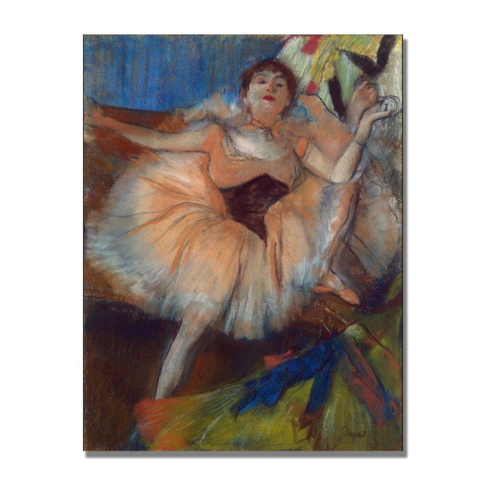 Trademark Fine Art 24 in. x 32 in. Seated Dancer, 1879 Canvas Art