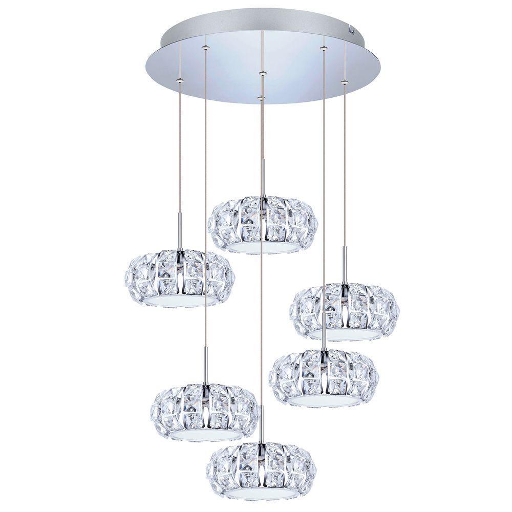 Eglo Corliano 5Light Chrome Hanging Light39008A The Home Depot