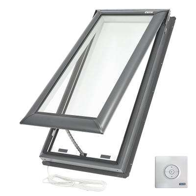 21 in. x 54-7/16 in. Fresh Air Electric Venting Deck-Mount Skylight with Laminated Low-E3 Glass